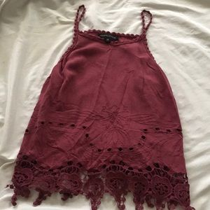 Kendall and Kylie Burgundy tank top
